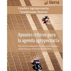 Apuntes críticos para la agenda agropecuaria