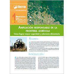 Ampliación responsable de la frontera agrícola